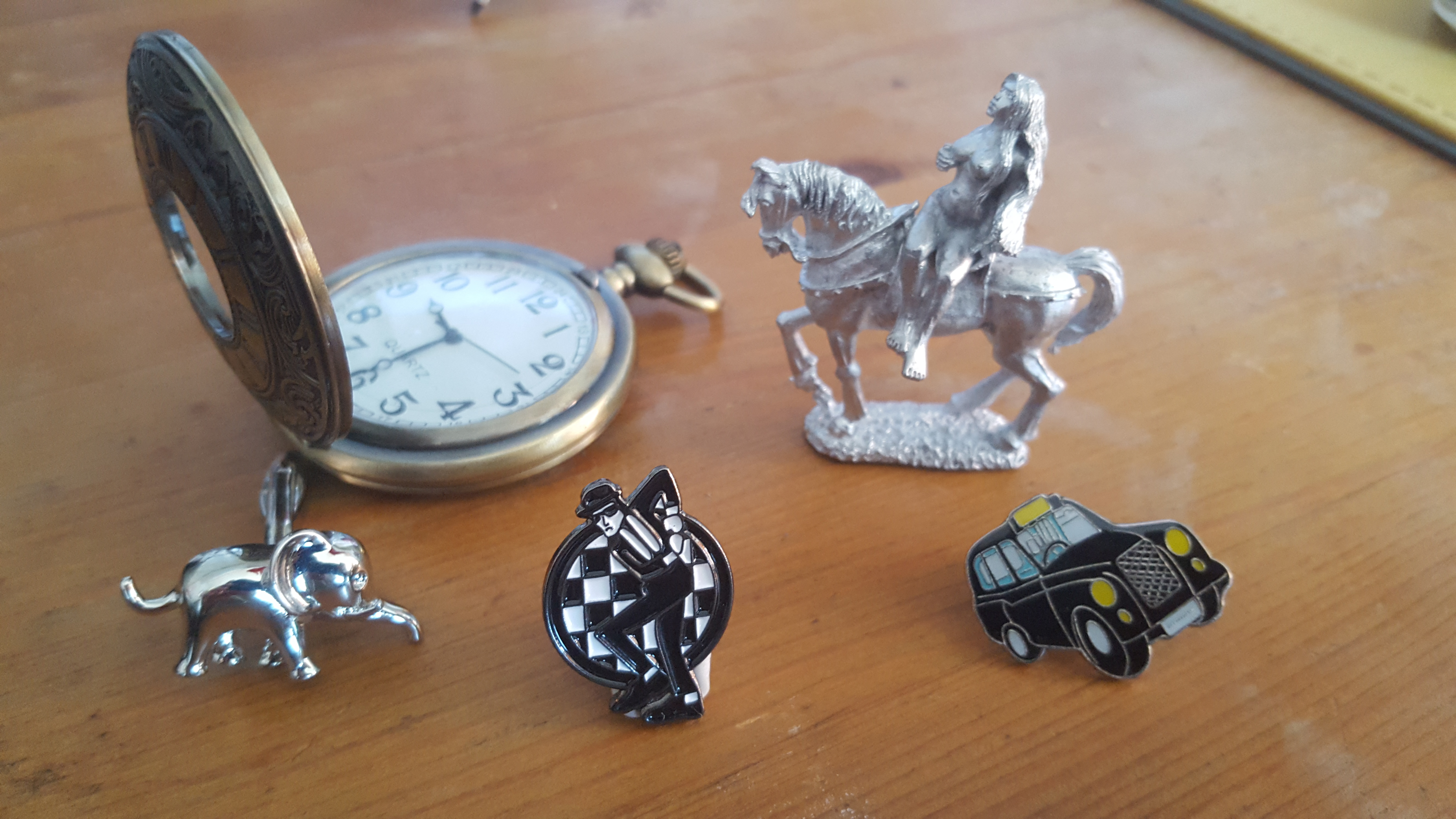 Just some of the playing pieces there should be in Coventry Monopoly