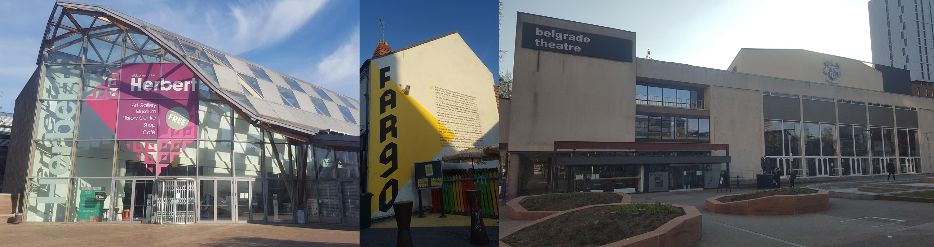 The Herbert, Fargo Village and the Belgrade Theatre.