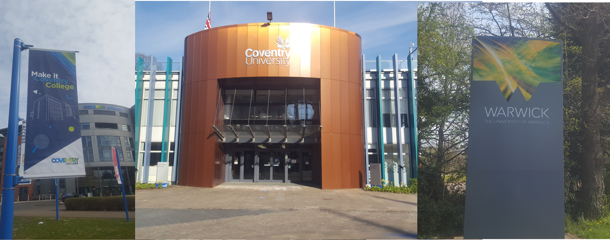 Education: Coventry College, Coventry University and the University of Warwick.